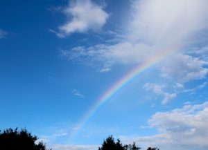 Blauer-Regenbogen